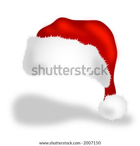 Santa's cap - stock vector