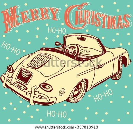 Santa's Car - stock vector