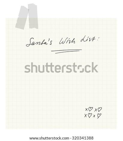 Santa's Wish List - stock vector