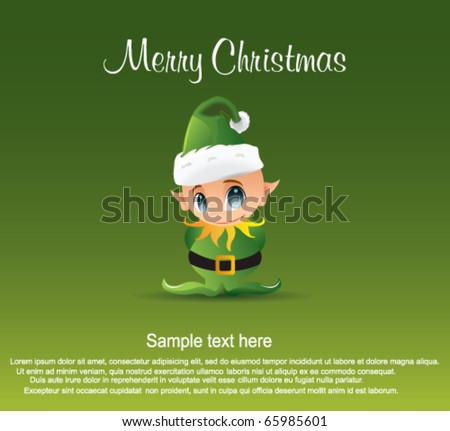 Santas helper - stock vector