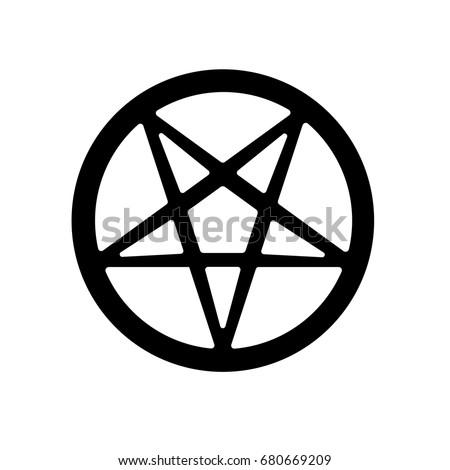 Satanic Pentagram Symbol Icon Vector Stock Vector 680669209