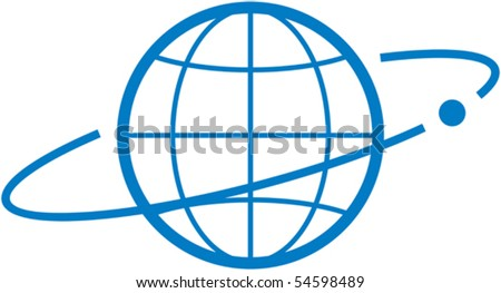 Satellite orbit â?? Vector illustration - stock vector