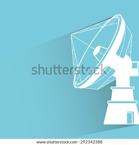 satellite radar - stock vector