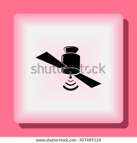 Satellite sign icon, vector illustration. Flat design style