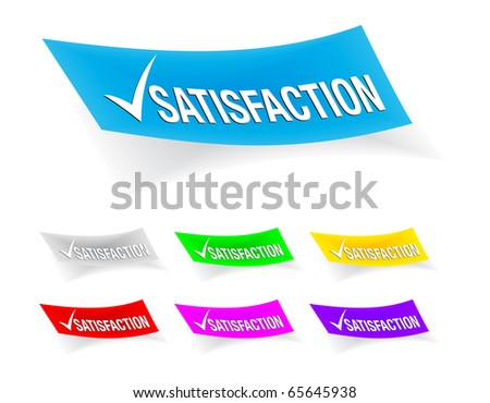 satisfaction check-mark,stickers