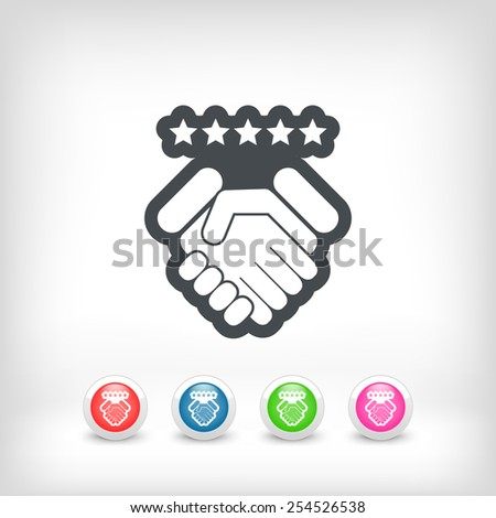 Satisfaction for best service. - stock vector