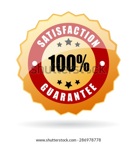 Satisfaction guarantee icon - stock vector