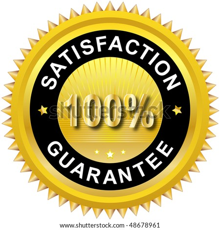 Satisfaction guarantee label - stock vector