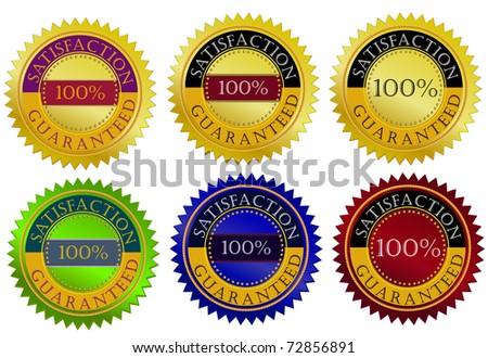 Satisfaction guarantee seal - stock vector