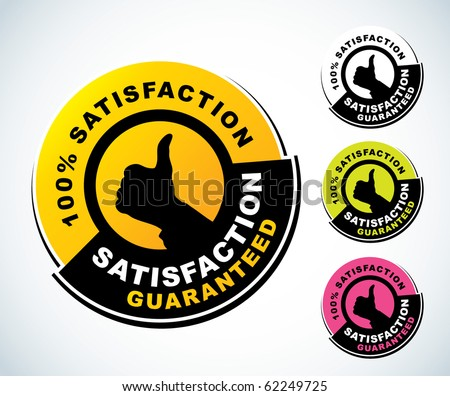 Satisfaction guaranteed label - stock vector