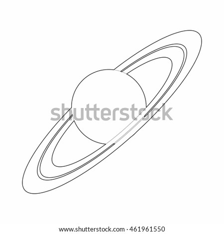 Set planets solar system cartoon style flat icon stock vector image - White Saturn Sky Stock Photos Royalty Free Images