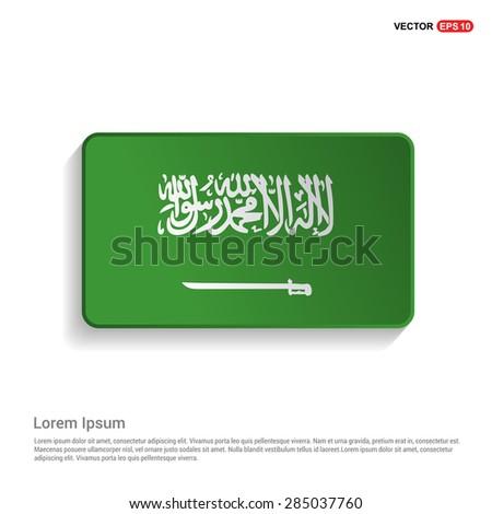 Saudi Arabia flag isolated on white background - vector illustration - stock vector