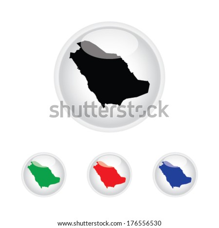 Saudi Arabia Icon Illustration with Four Color Variations - stock vector