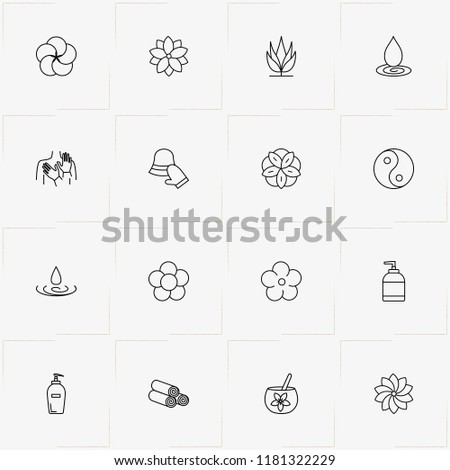 Sauna Spa Line Icon Set Yin Stock Vector Royalty Free 1181322229