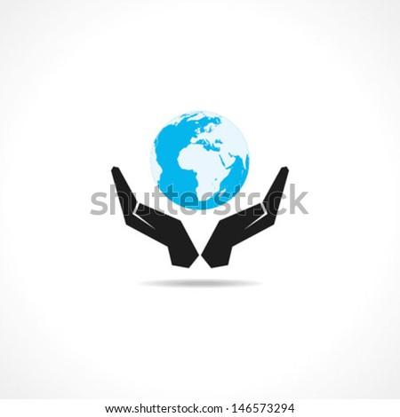 save earth concept stock vector - stock vector