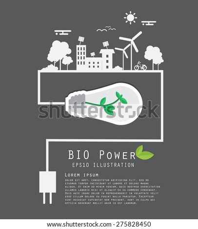 Save energy - stock vector