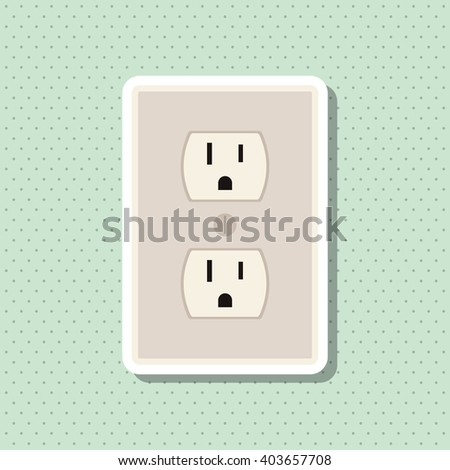 Save Energy icon design, vector illustration