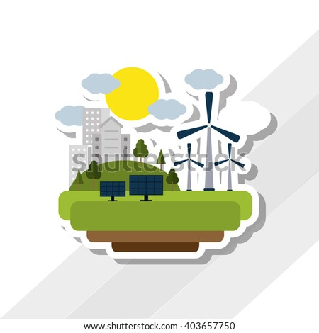 Save Energy icon design, vector illustration - stock vector