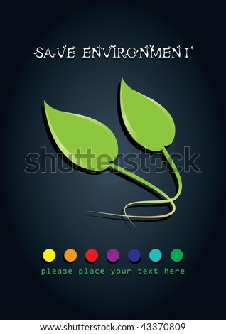 save environment poster design. - stock vector