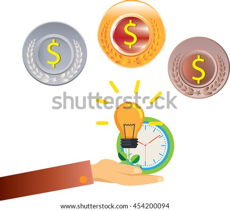 save money and saving dollar coin