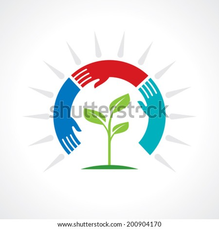 save nature concept - Illustration - stock vector