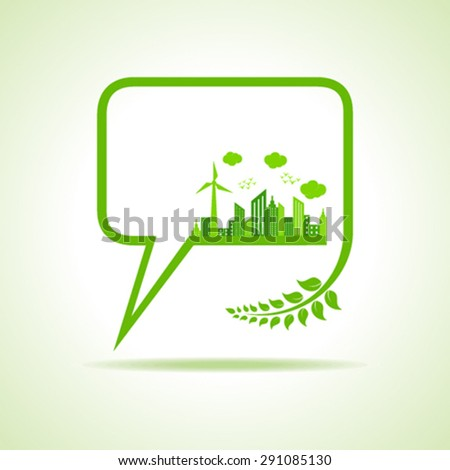 Save nature concept -vector illustration  - stock vector