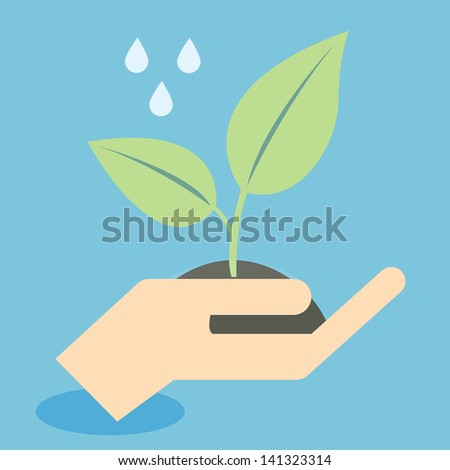Save nature young plant