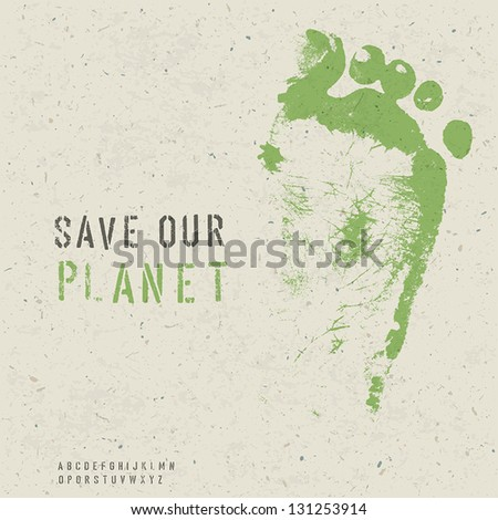 Save our planet poster. Vector, EPS10 - stock vector