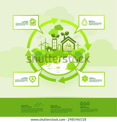 Save the clean world vector illustration