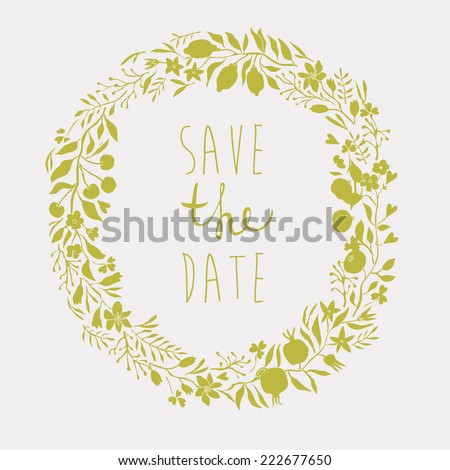 Save the Date Card - stock vector