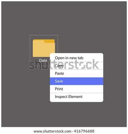 Save The Date Folder Right Click (Vector Illustration Design Concept)