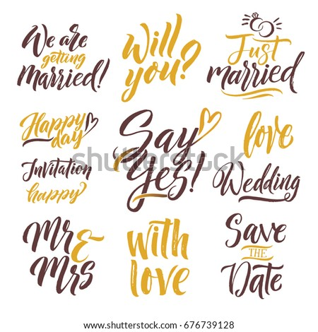 Invitation Cards Wedding Calligraphy Words Save Vector – Words of Invitation