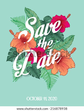 save the date invite card template vector/illustration - stock vector