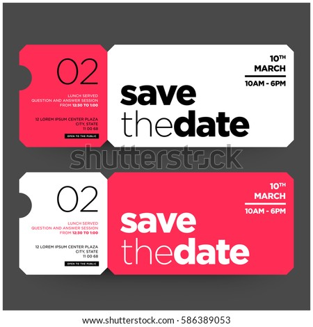 Save date minimalist modern invitation design stock photo photo save the date minimalist modern invitation design stopboris Images