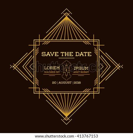 save date wedding invitation card art stock vector 413767153