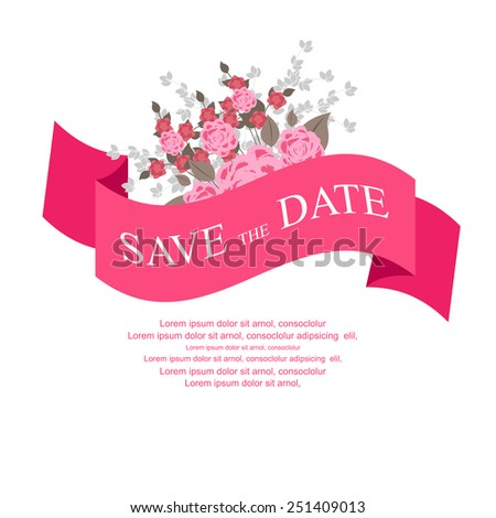 Save the Date wedding invitation. vector