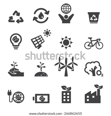 save the earth icons - stock vector