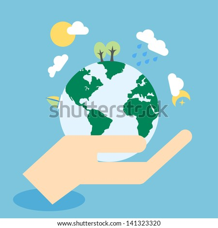 Save The Earth Vector - stock vector