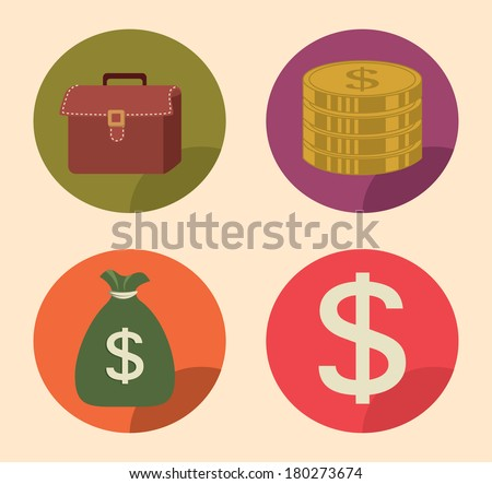 save the money signs vector illustration - stock vector