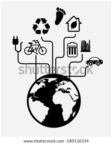 save the planet design over white background vector illustration