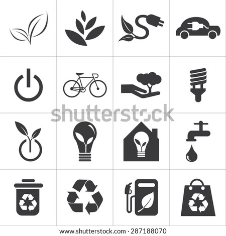 save the world and clean energy icon - stock vector