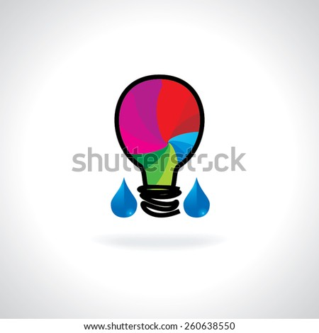 save water idea with bulb illustration - stock vector