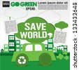 Save world concept illustration vector.EPS10 - stock photo