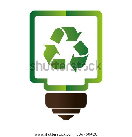 saving bulb isolated icon