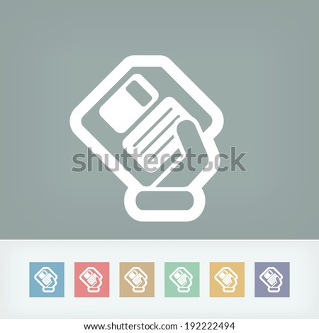 Saving data icon