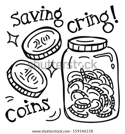 saving jar - stock vector