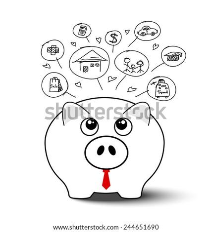 Saving money  - stock vector