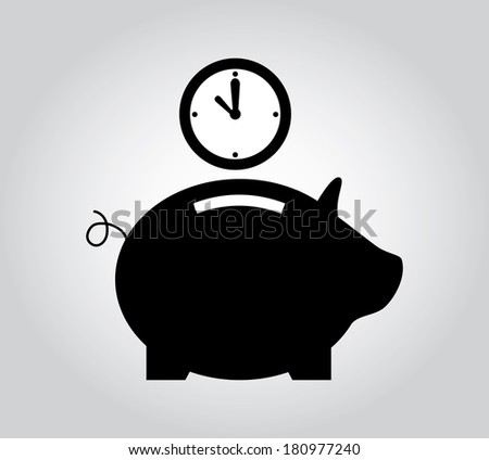 saving time design over gray  background vector illustration - stock vector
