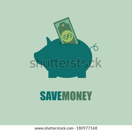 savings design over blue background vector illustration - stock vector