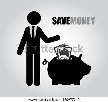 savings design over gray background vector illustration - stock vector